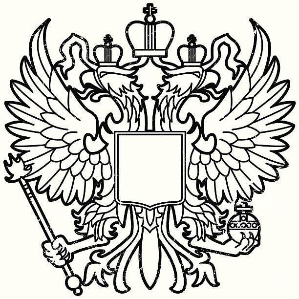 ilustraciones, imágenes clip art, dibujos animados e iconos de stock de eagle de la madre rusia - rusia