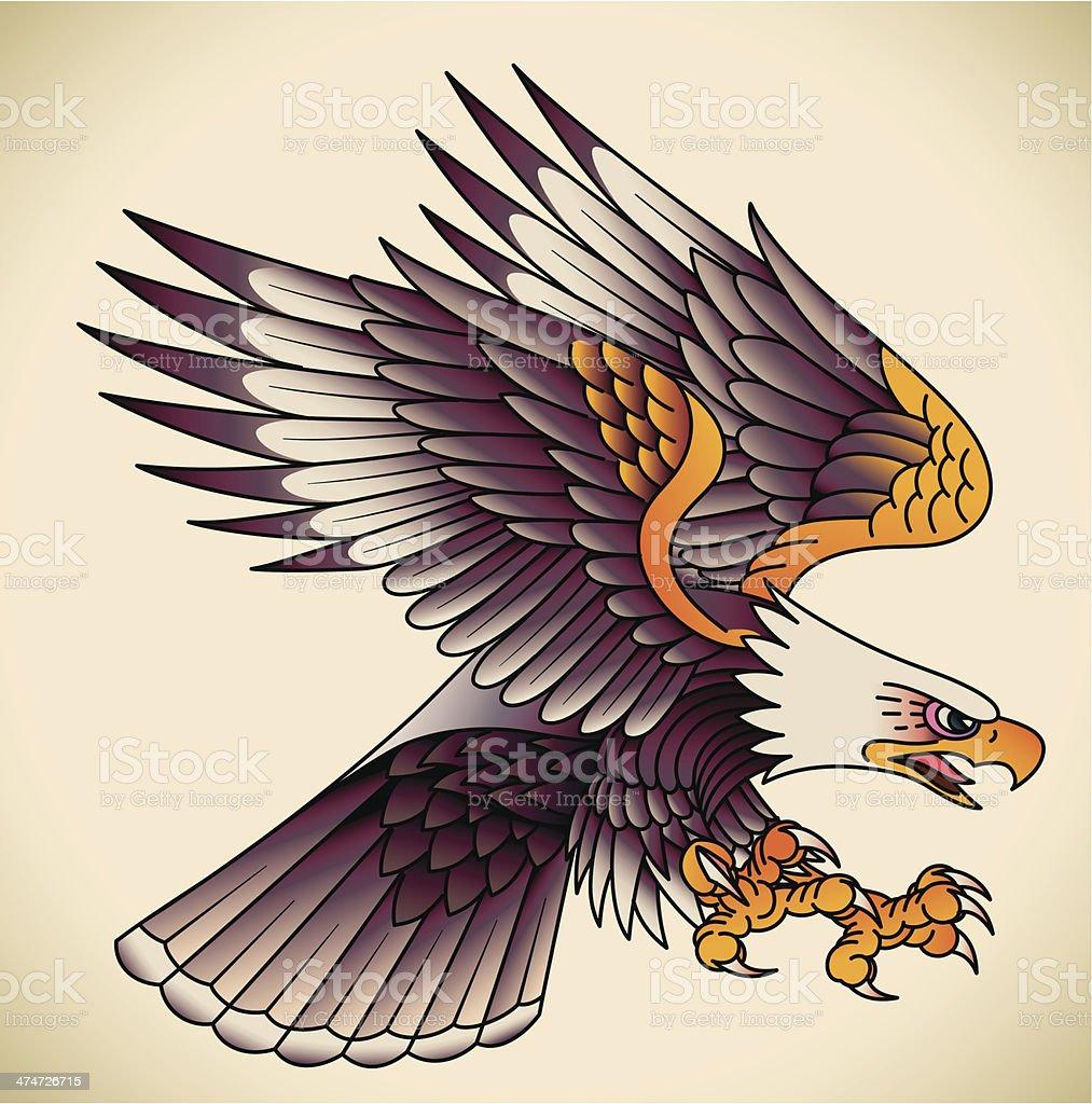 Ilustración de Águila Tatuaje Vieja Escuela y más banco de imágenes ...