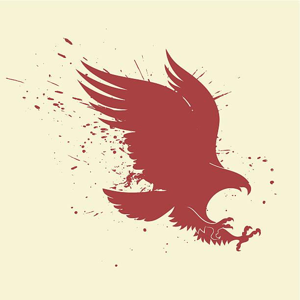 Eagle póster - ilustración de arte vectorial
