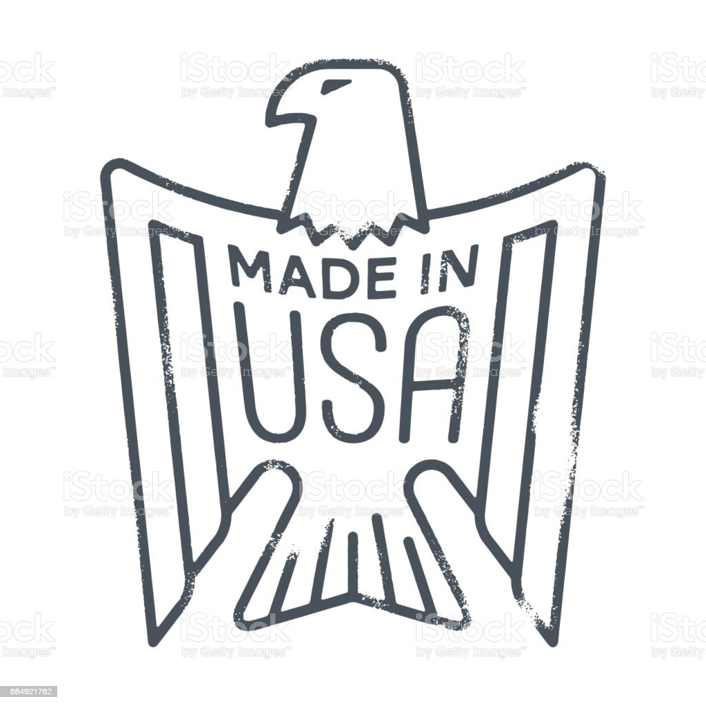 Made In Usa Eagle Rubber Stamp Stock Vector Art More Images Of