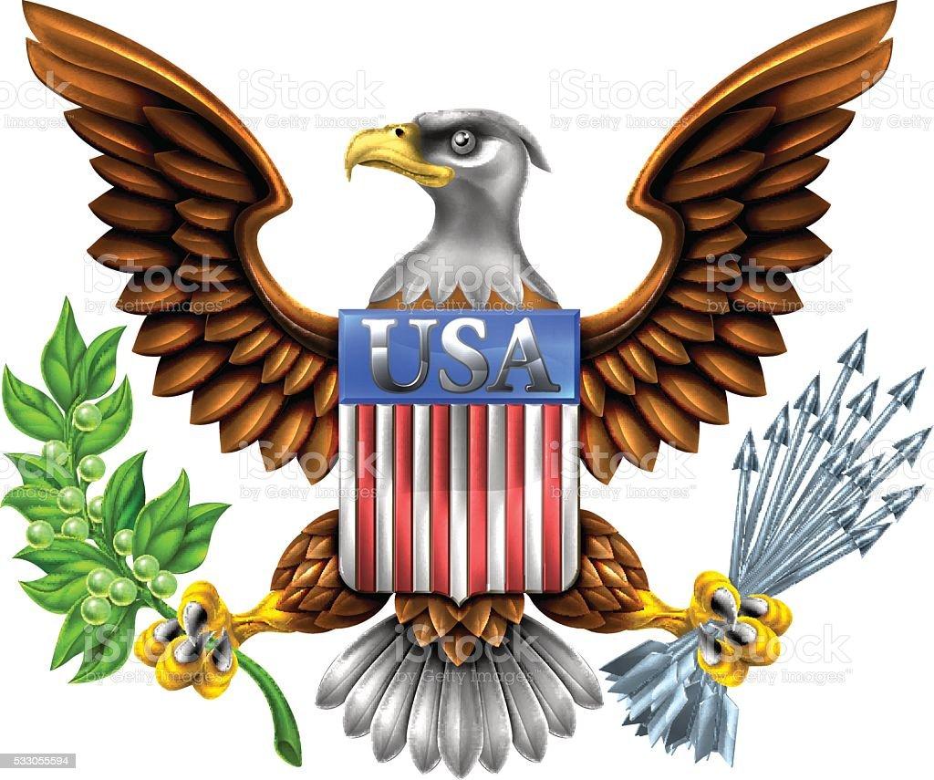 Ilustración de Escudo De águila Diseño De Los Estados Unidos y más ...