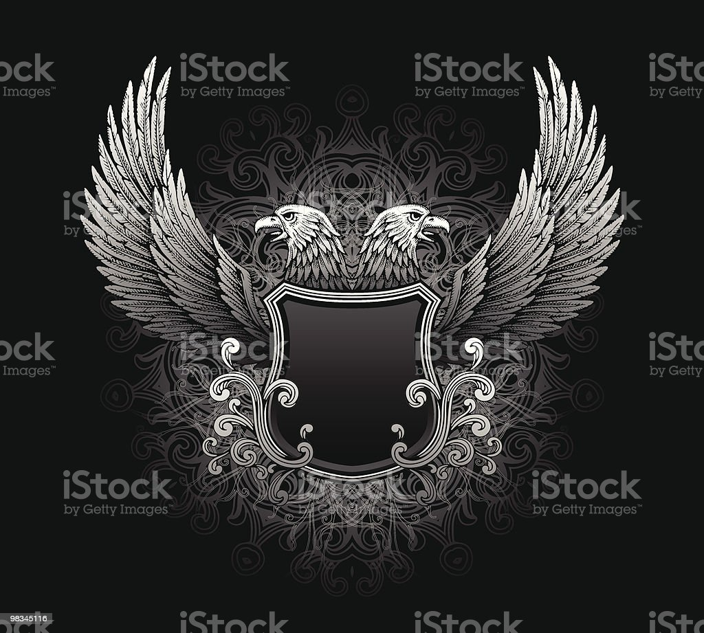 Eagle shield royalty-free eagle shield stock vector art & more images of animal body part