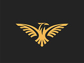 Eagle sign template. Vector format, available for editing.