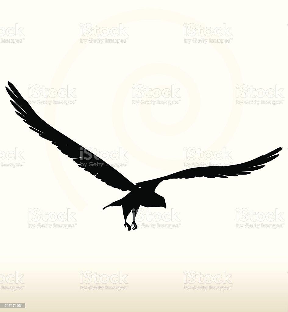 eagle silueta - ilustración de arte vectorial