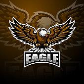 Illustration of Eagle sport mascot logo design