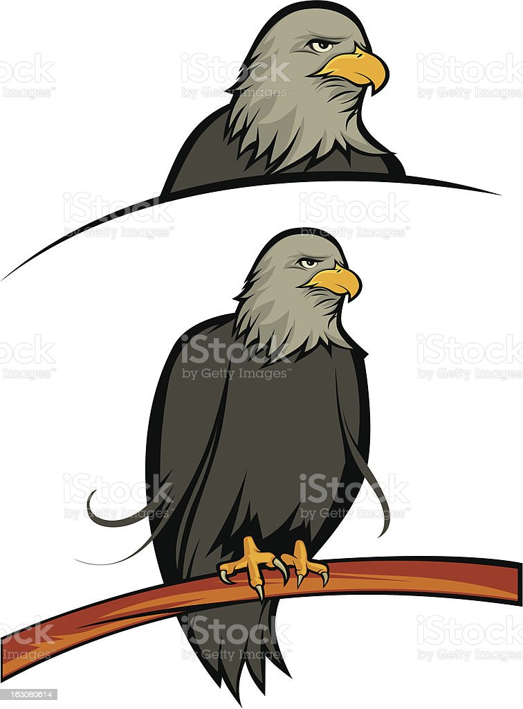 Eagle Stand in the tree royalty-free stock vector art