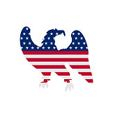 Eagle Symbol National pride America for Independence Day 4th of
