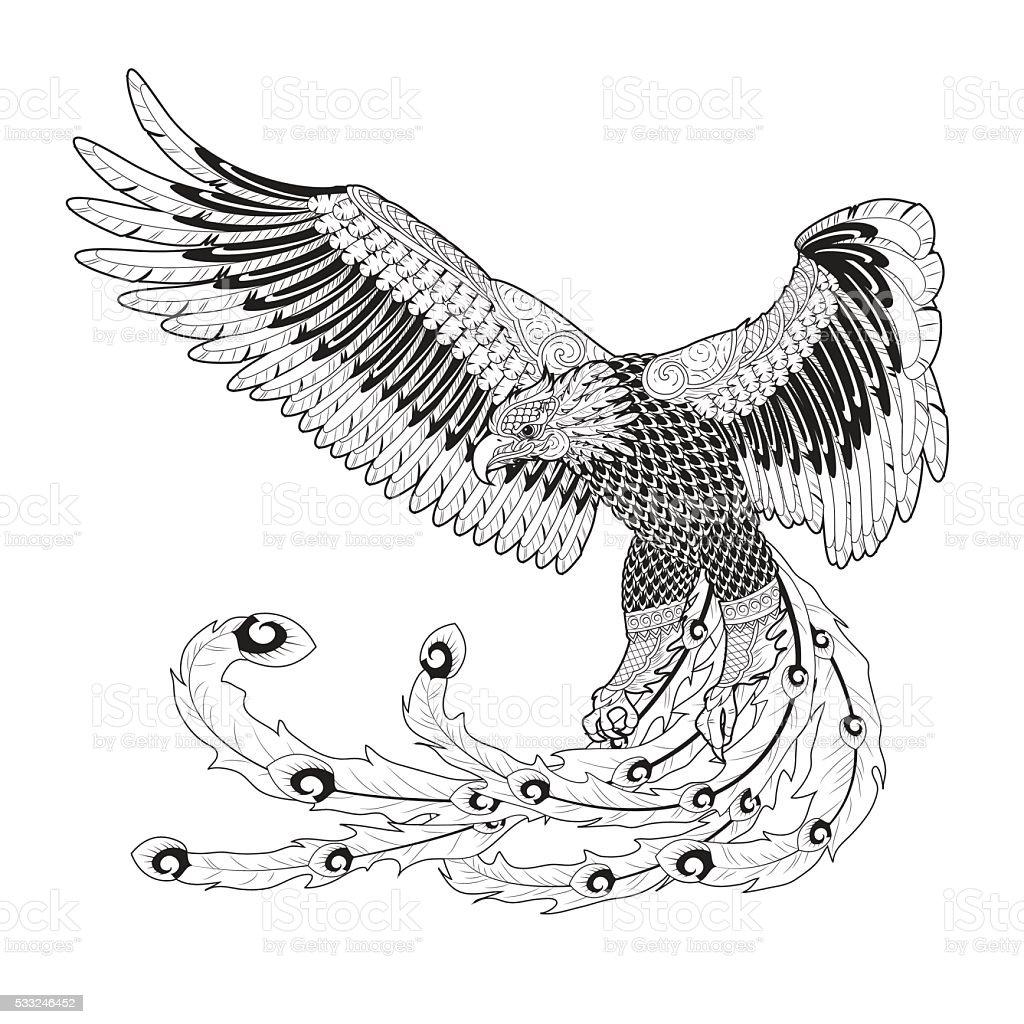 eagle arte tailandesa - ilustração de arte em vetor