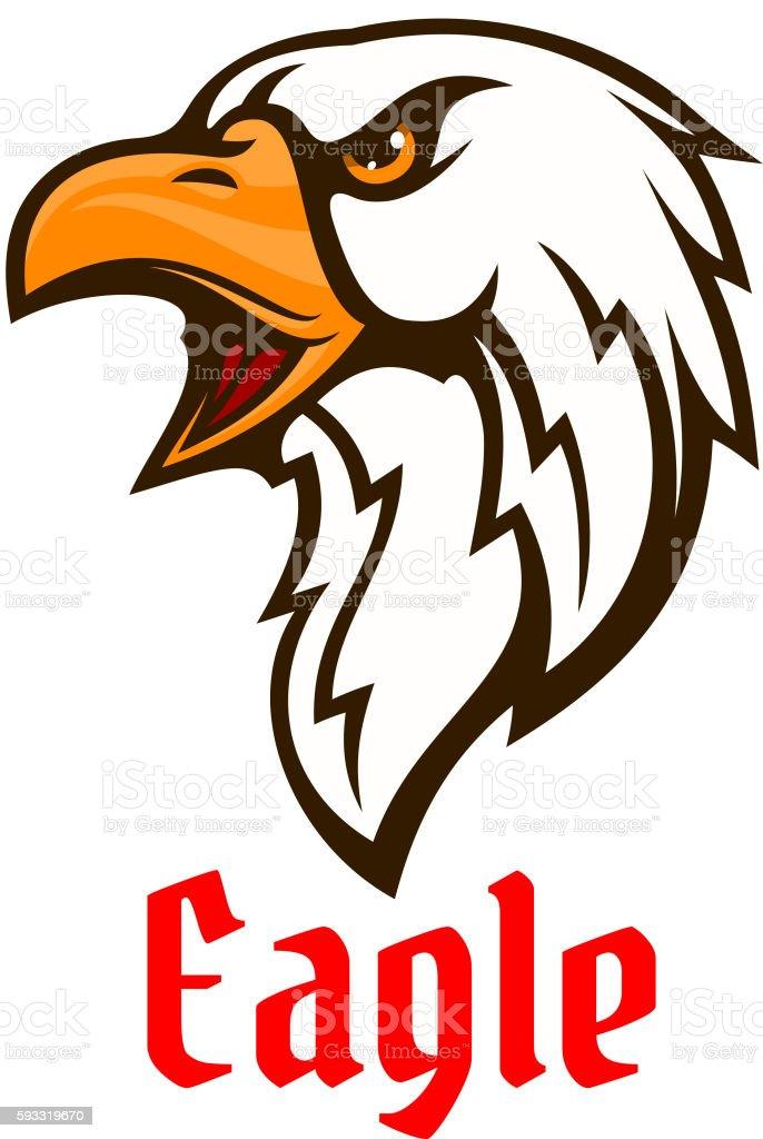 Eagle Vector Emblem Hawk Graphic Symbol Stock Vector Art More