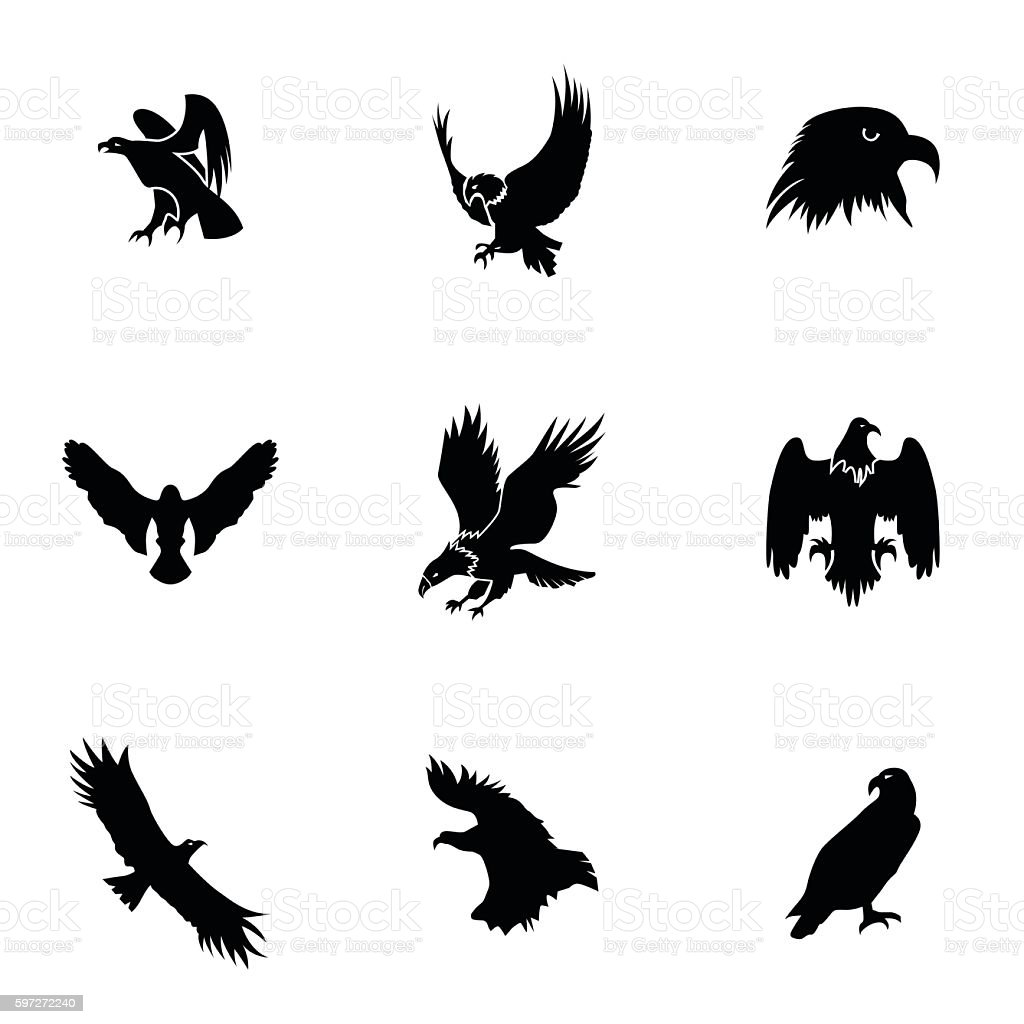 Eagle vector set eagle vector set – cliparts vectoriels et plus d'images de affaires libre de droits
