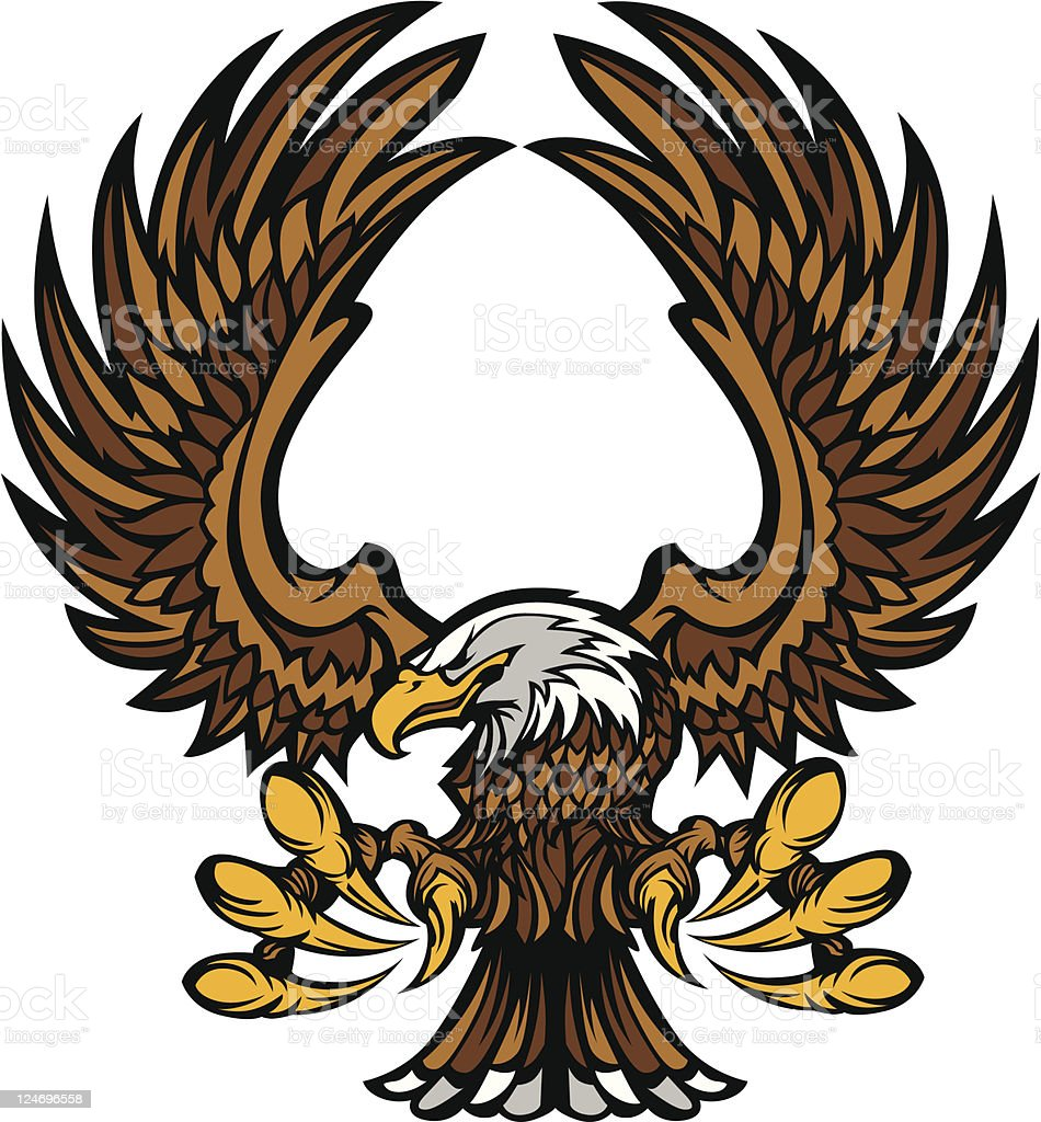 Eagle Wings and Claws Mascot vector art illustration
