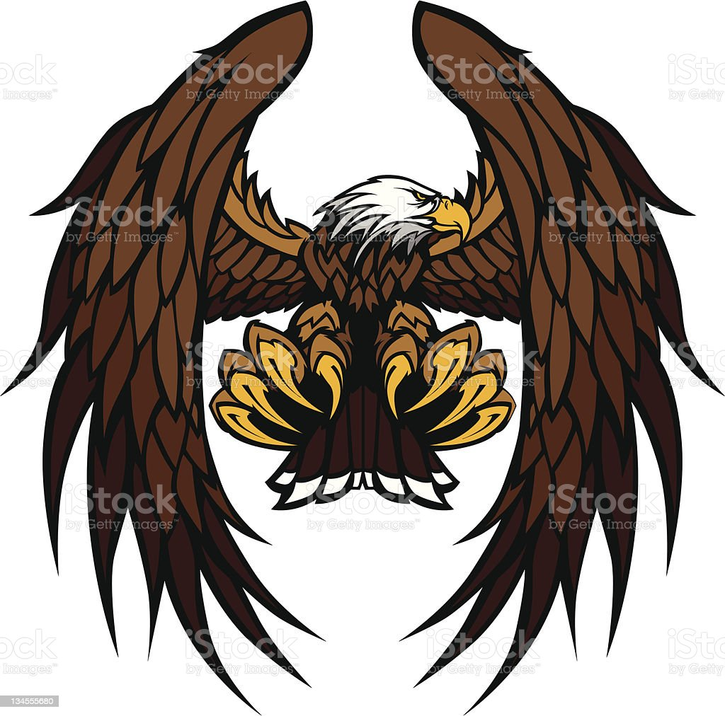 Eagle Wings and Claws Mascot Vector Illustration vector art illustration