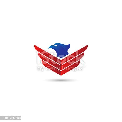istock eagle wings vector logo. 1157039788