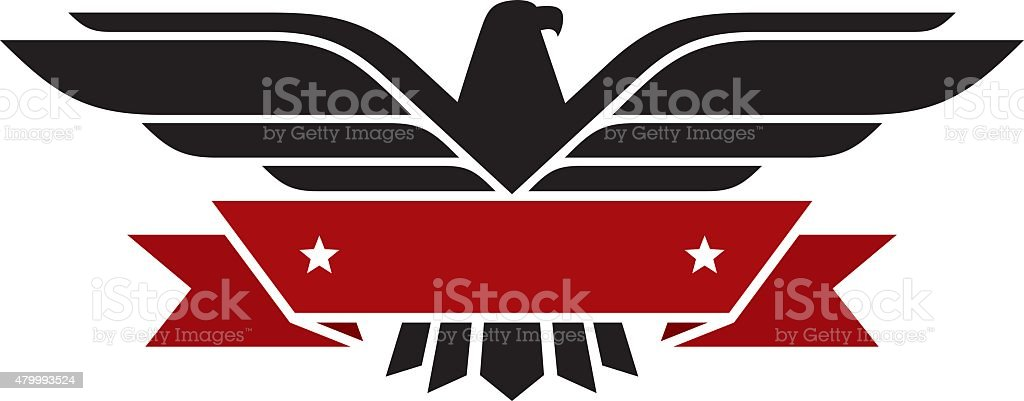 Eagle con banner - ilustración de arte vectorial