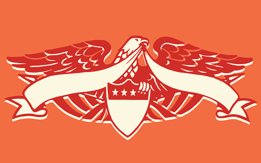 Eagle with Blank Banner on Crest