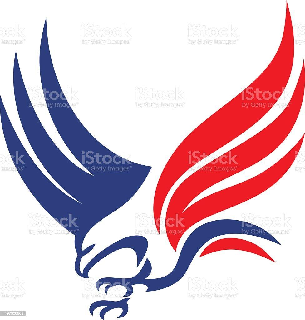 Eagle con ganchos - ilustración de arte vectorial