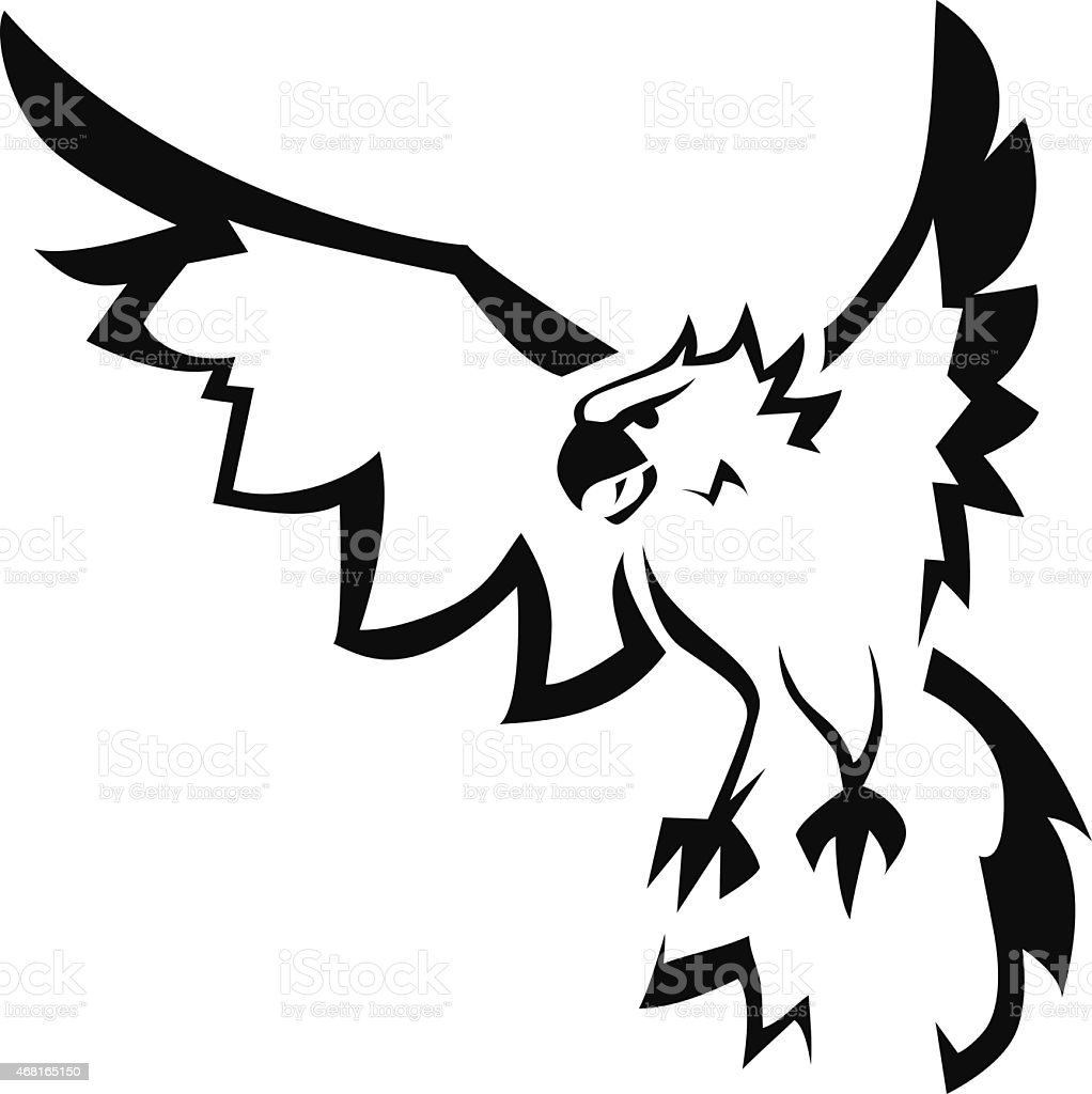 Eagle with open wings. - Royalty-free 2015 stock vector
