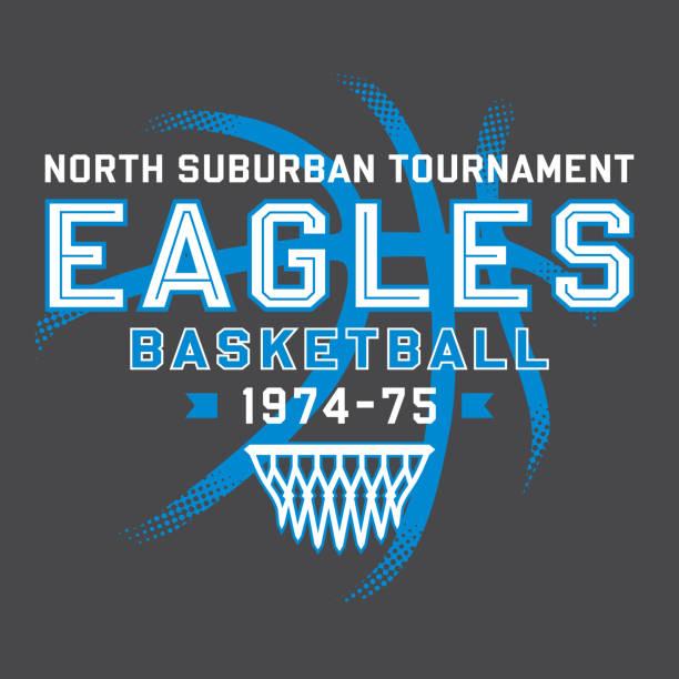 Eagles Basketball T-Shirt Design vector art illustration