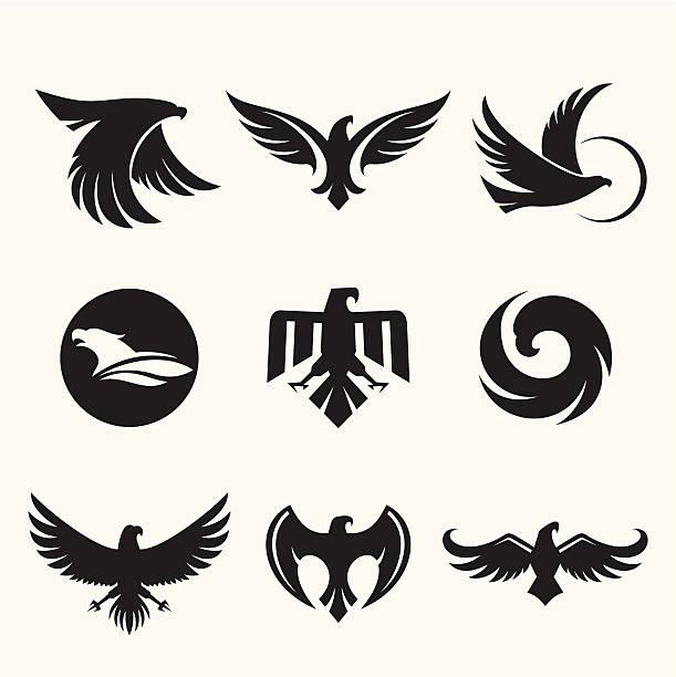Eagles de diseño - ilustración de arte vectorial