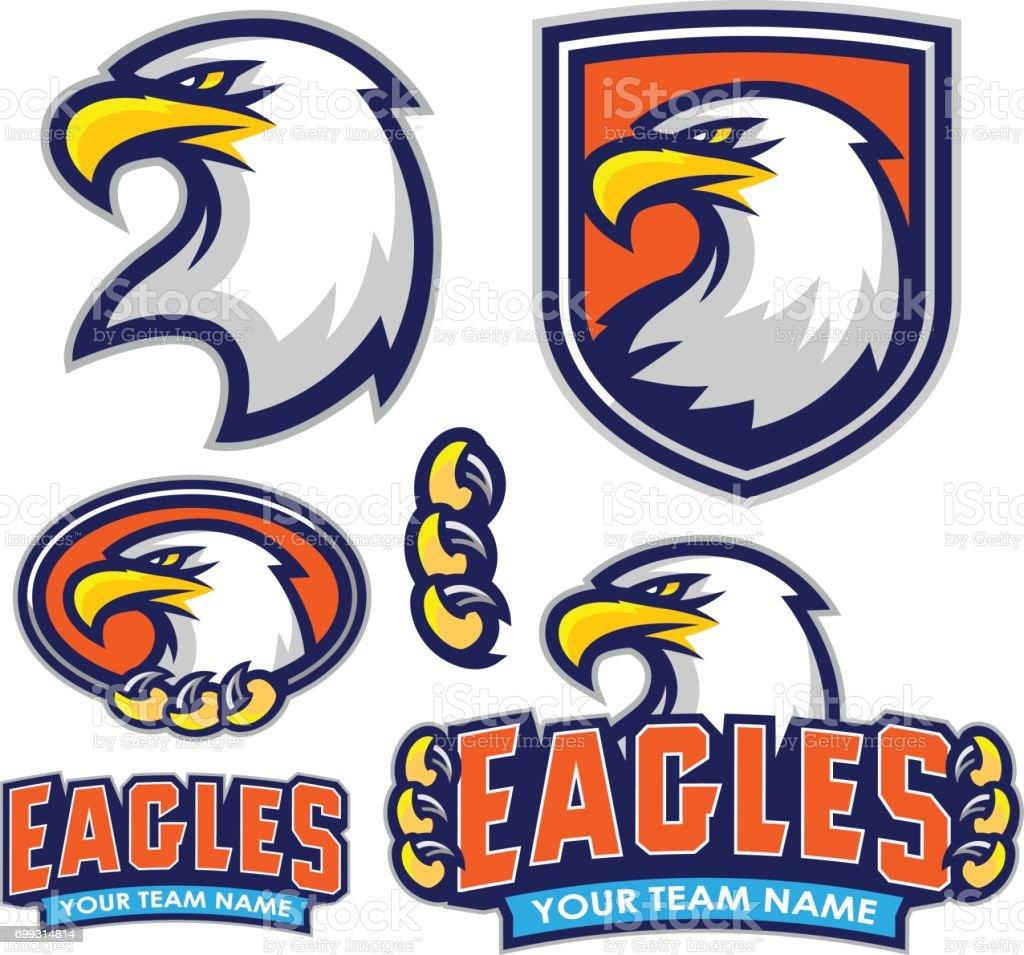 Eagles Sport Kit vector art illustration