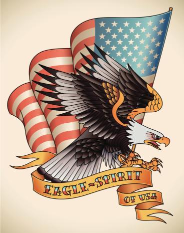 Eagle tattoo stock illustrations