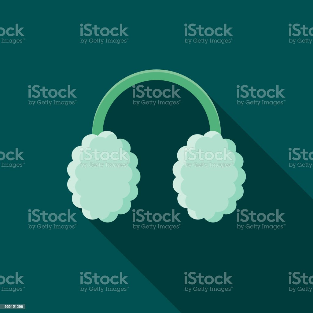 Ear Muffs Flat Design Winter Icon with Side Shadow royalty-free ear muffs flat design winter icon with side shadow stock vector art & more images of blue