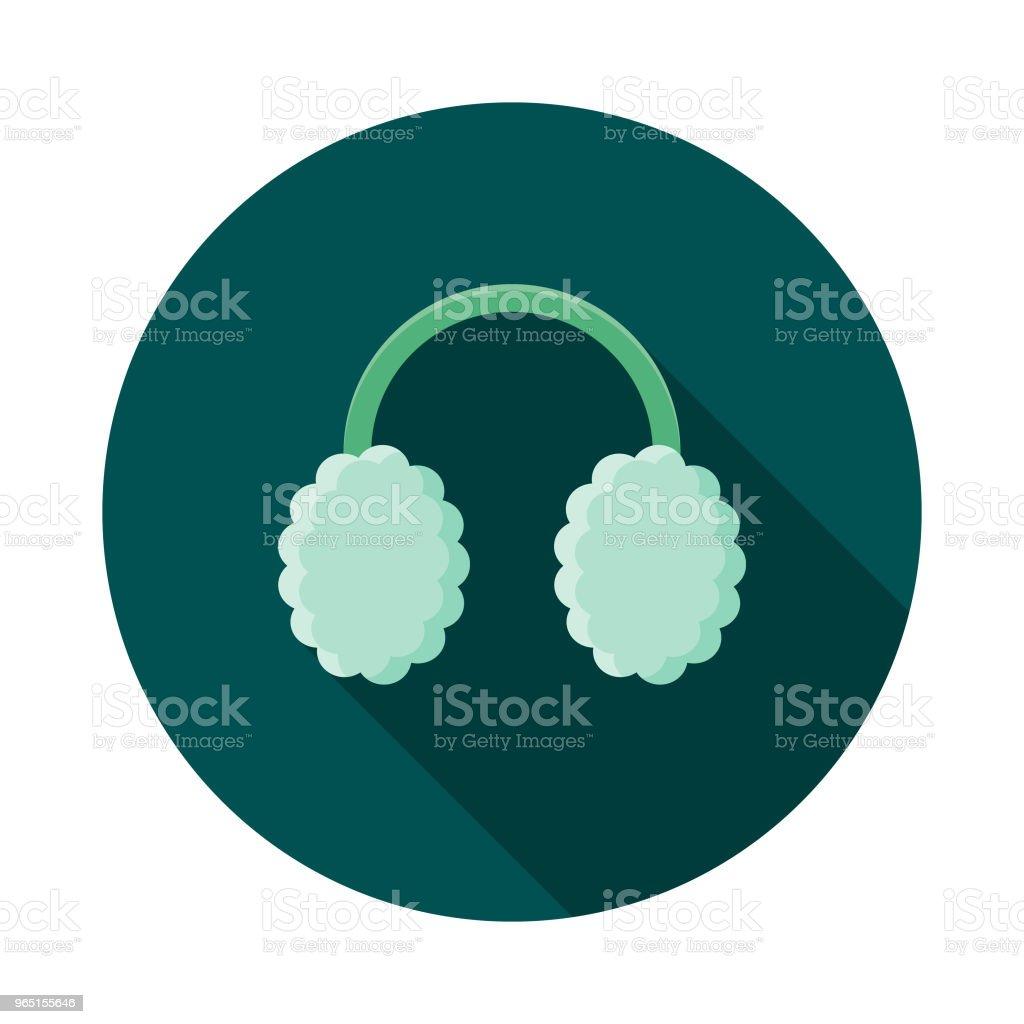 Ear Muffs Flat Design Winter Icon with Side Shadow ear muffs flat design winter icon with side shadow - stockowe grafiki wektorowe i więcej obrazów bez ludzi royalty-free