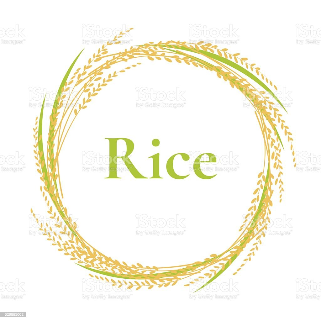 Ear Of Rice Logo Design Circle Frame Vector Plant Sign Stock Vector ...