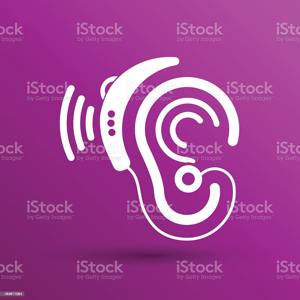 Ilustración de Oreja Vector Icono Audífonos Oído Escuche El Sonido ...
