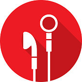 istock Earbuds Icon Silhouette 1135810436