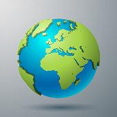 Earht world map illustration in vector