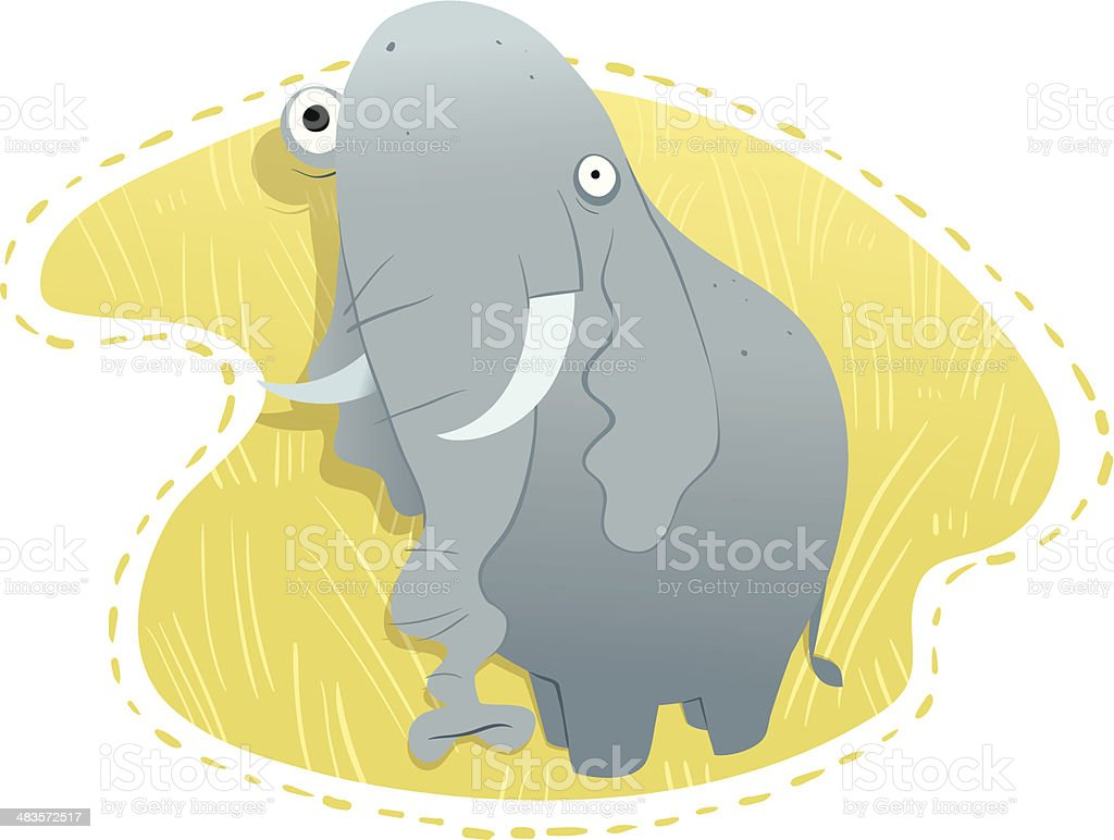 Earl the Elephant vector art illustration