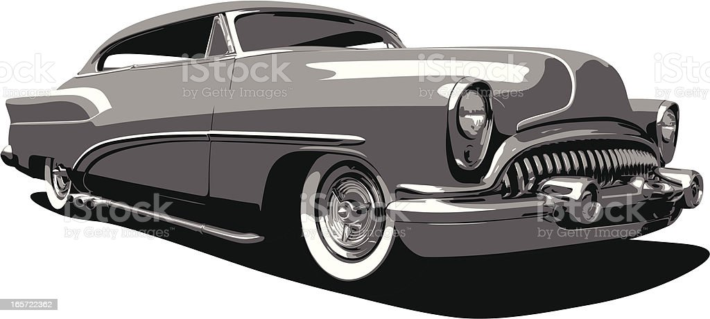 Early 1950's Buick Automobile vector art illustration