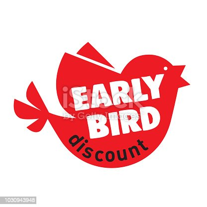 Early Bird Special discount sale event banner or poster, Early Bird Special discount