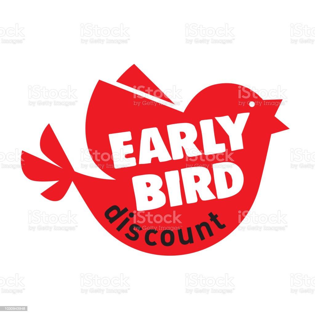 Early Bird Special discount vente événement bannière ou une affiche - Illustration vectorielle
