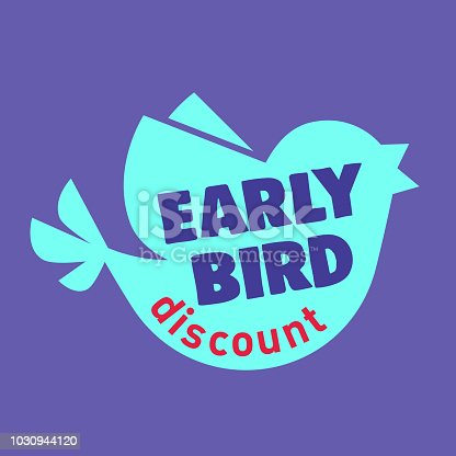 Early Bird Special discount sale event banner or poster, Early Bird Special discount sale