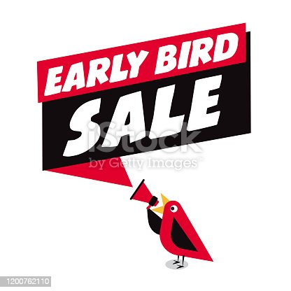 Early Bird Special discount sale event banner or poster, Early Bird Special discount sale event banner or poster