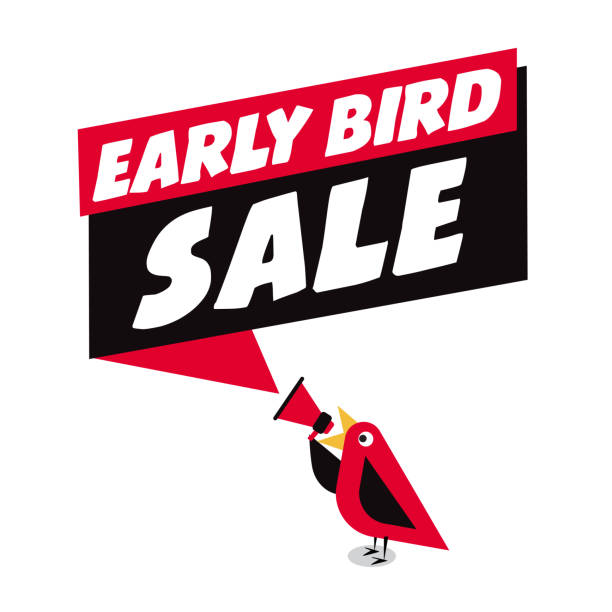 Early Bird Special discount sale event banner or poster vector art illustration