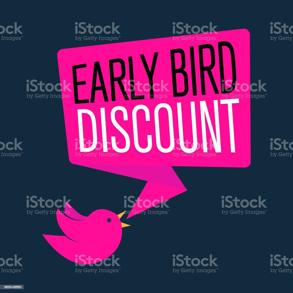 Early Bird Special discount sale event banner or poster, vector illustration royalty-free early bird special discount sale event banner or poster vector illustration stock vector art & more images of abstract