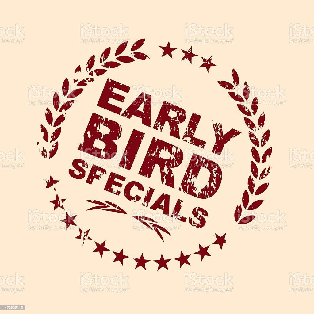 Early Bird Specials Emblem royalty-free stock vector art