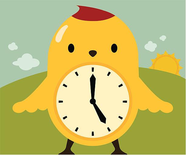 early bird / time flies / spring forward - spring forward stock illustrations, clip art, cartoons, & icons