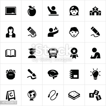 Early Childhood Education Icons Stock Vector Art & More