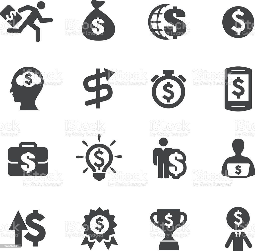 Ganhar dinheiro ícones-a Acme Series - ilustração de arte em vetor