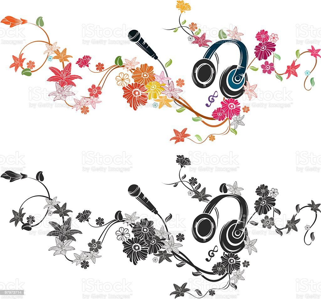 earphone and microphone royalty-free earphone and microphone stock vector art & more images of bud