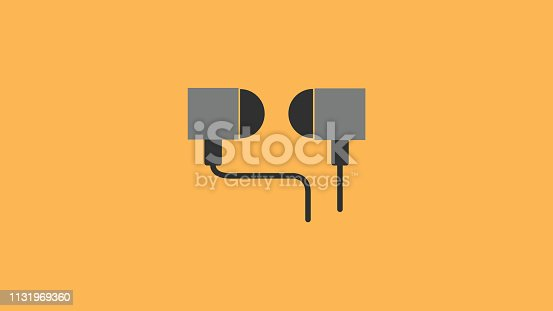 Earphone headphone Vector Icon