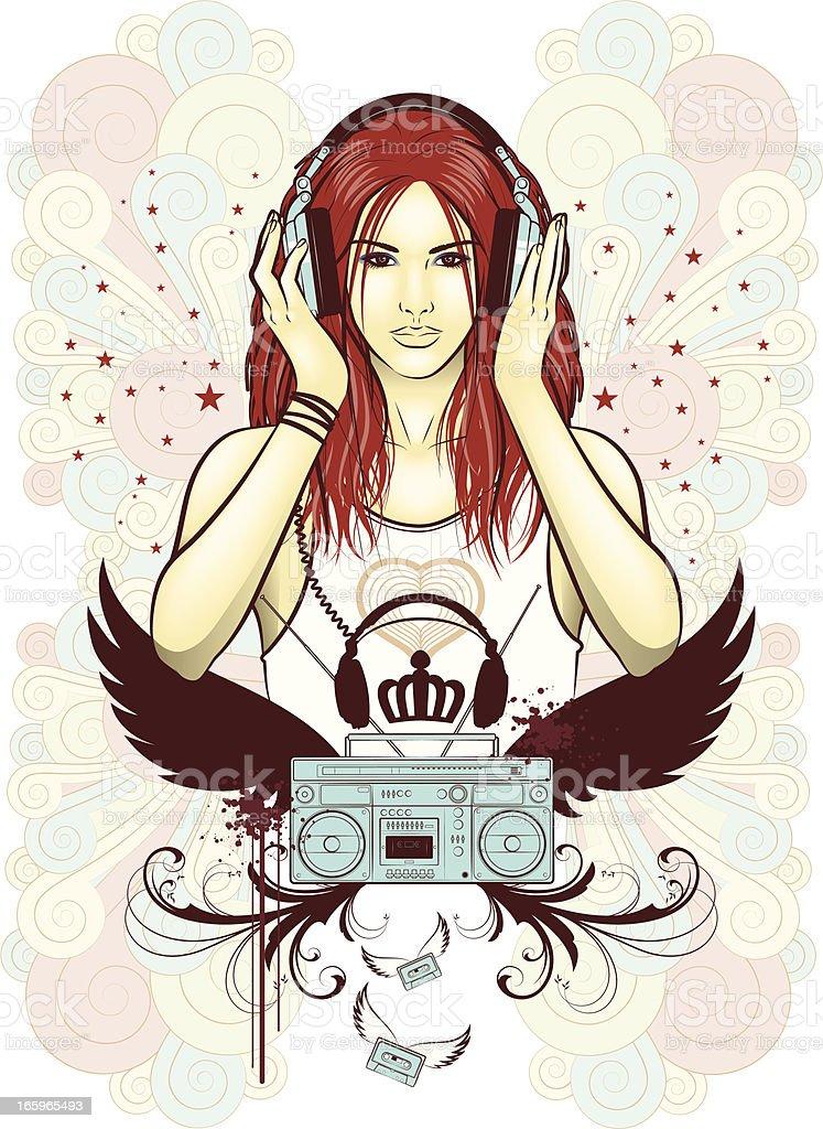 earphonegirl royalty-free earphonegirl stock vector art & more images of 16-17 years