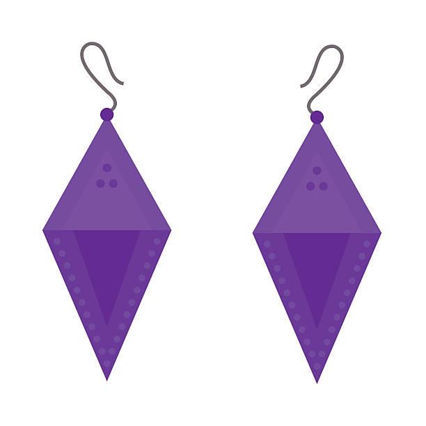 earrings beautiful accessory isolated vector. - glasohrringe stock-grafiken, -clipart, -cartoons und -symbole