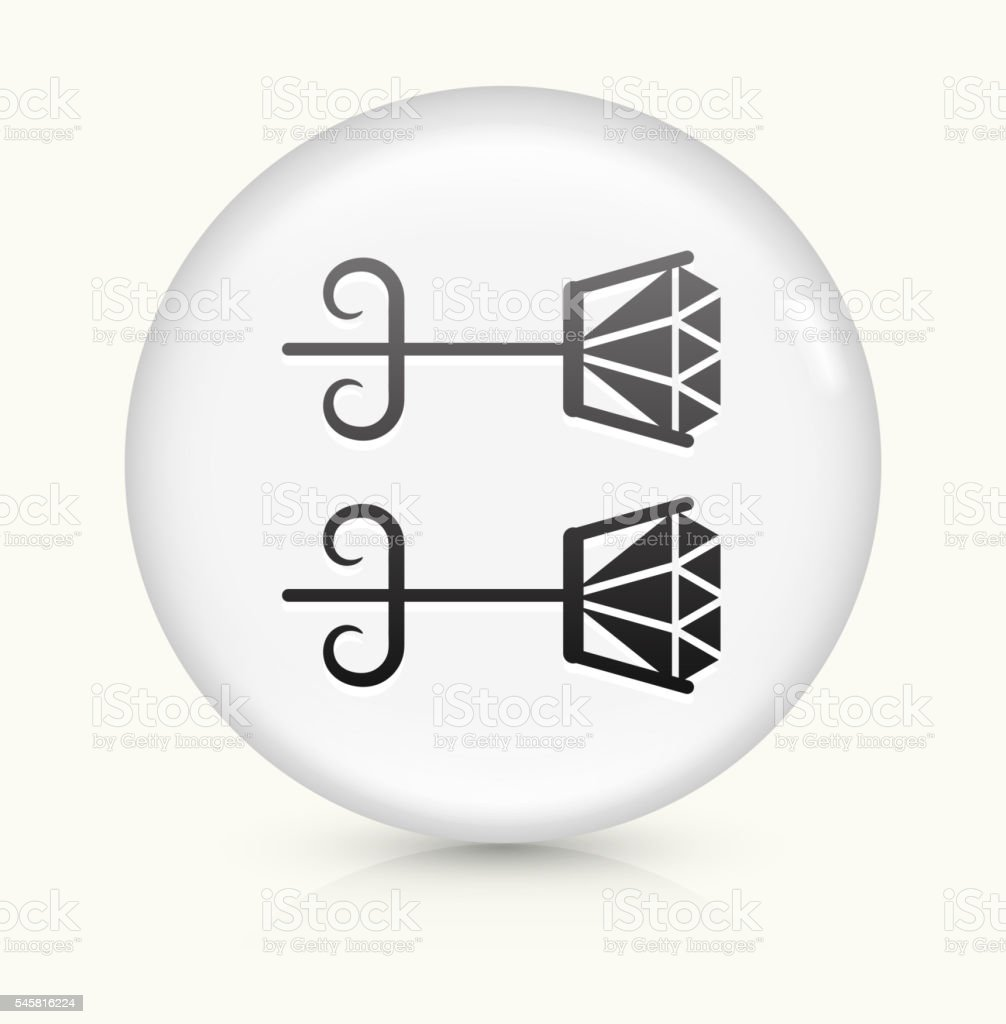Earrings icon on white round vector button vector art illustration