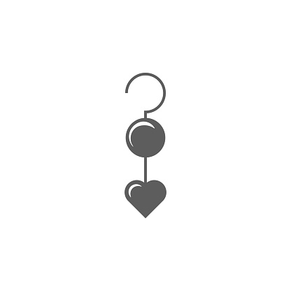 Earrings With Heart Icon Elements Of Valentines Day Icon Premium Quality Graphic Design Icon Simple Icon For Websites Web Design Mobile App Info Graphics Stock Illustration - Download Image Now