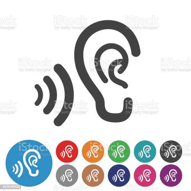 Ears Icons Graphic Icon Series Stockvectorkunst en meer beelden van Anatomie